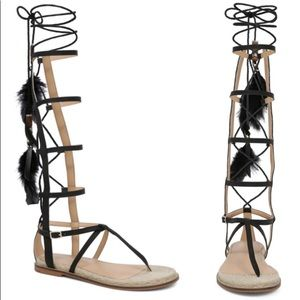 ALDO Capro Leather Gladiator Espadrille Sandals